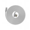 Remax Rayen USB-s adatkábel, töltőkábel szürke (microUSB, 1M)*
