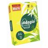 """REY Másolópapír, színes, A4, 160 g, REY """"Adagio"""", intenzív sárga"""