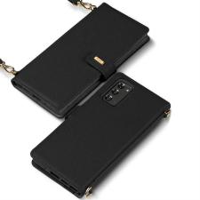 Ringke Folio aláírása valódi bőrtok füllel és vállpánttal Samsung Galaxy Note 20 fekete (FS79R55) telefontok tok és táska