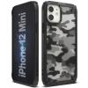 Ringke Fusion X design tartós PC Tok TPU Bumper iPhone 12 mini Camo Fekete (XDAP0015) telefontok