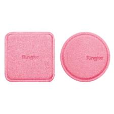 Ringke mágneses rögzítés fémlemez 2x műbőr borítású öntapadós fémlemez Mágneses Autós tartók pink (ACPU0002) mobiltelefon kellék