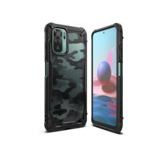 Ringke Xiaomi Redmi Note 10/Note 10S ütésálló hátlap - Ringke Fusion X - camo black tok és táska