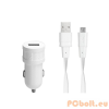 RivaCase RivaPower VA4211 WD1 EN car charger (1xUSB/1A) with Micro USB data cable White