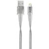 RivaCase USB Lightning Töltő/adatkábel Átlátszó 1.2m 4260403573433
