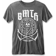Rock Off BMTH Crooked Young Mens Burnout Charcoal T Shirt: M