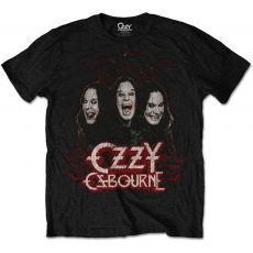 Rock Off Ozzy Osbourne Crows & Bars Mens Black T Shirt: XXL