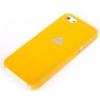 Rock Rock New Naked Shell matt műanyag hátlaptok Apple iPhone 5, 5S, SE-hez narancs*