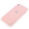 Rock Rock New Naked Shell matt műanyag hátlaptok Apple iPhone 5, 5S, SE-hez rózsaszín*