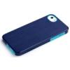 Rock Rock Texture Double műanyag hátlaptok Apple iPhone 5, 5S, SE-hez kék*