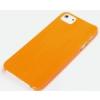 Rock Rock Texture műanyag hátlaptok Apple iPhone 5, 5S, SE-hez narancs*