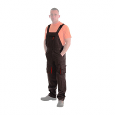 Rock SAFETY® ROCK szürke-narancssárga melles (kertész) nadrág : Munkaruha jelege: - Nadrág, Nadrág kialakítása: - Kantáros /Kertész /Melles, Szín: - Szürke-Narancs, UN méret: - 56-os (XL)