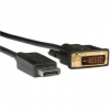 ROLINE DisplayPort - DVI interfész, árnyékolt, 3m
