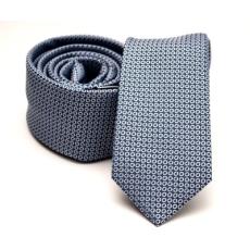 Rossini Prémium slim nyakkendõ - Kék-fehér pöttyös