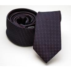 Rossini Prémium slim nyakkendõ - Sötétlila mintás