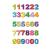 Rössler Papier GmbH and Co. KG Rössler Matrica, kézzelkészített, színes számok