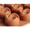 Rózsa alakú szilikon bonbon készítő forma
