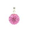 Rózsaszin gömbl Swarovski kristályos medál.