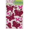 Rózsaszín pillangók falmatrica