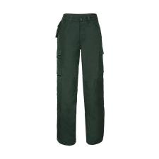 """Russell Europe Férfi nadrág munkaruha Russell Europe Heavy Duty Workwear Trouser Hossza 30"""" 34"""" (86cm), Sötétzöld férfi nadrág"""