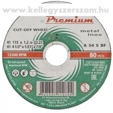 Russia Prémium vágókorong fém, rozsdamentes acél 125x 1,0x 22,2mm LUGA barkácsolás, csiszolás, rögzítés