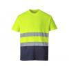S173 - Kéttónusú Pamut komfort póló - Sárga