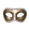 S&M - előformázott, csillogó szemmaszk (bronz)