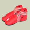 Saman Lábfejvédő, Saman, tépőzáras, PU, piros