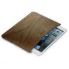 Samdi univerzális steppelt táska Apple iPad mini 4 / 3 / 2 / 1 - sötét fa
