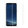 Samsung A8 2018 TELJES képernyős átlátszó hajlított védőüveg, kijelzővédő fólia üvegből, karcálló edzett üveg, üvegfólia
