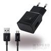 Samsung EP-TA20EBE hálózati töltő adapter + ECB-DU4EBE  microUSB kábel, 5V/2A, fekete, gyári csomagolás nélkül