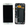 Samsung G925F Galaxy S6 Edge fehér gyári LCD kijelző érintővel és kerettel