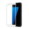 Samsung G935 Galaxy S7 Edge 3D hajlított előlapi üvegfólia fehér