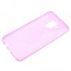 Samsung Galaxy A8 (2018) SM-A530F, TPU szilikon tok, S-Line, karbonminta, rózsaszín