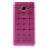 Samsung Galaxy Core Prime SM-G360F, TPU szilikon tok, kockaminta, magenta