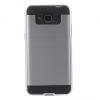 Samsung Galaxy Grand Prime SM-G530, Műanyag hátlap védőtok, szálcsiszolt mintázat, ezüst