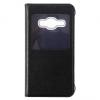 Samsung Galaxy J1 (2016) SM-J120, Oldalra nyíló tok, hívás mutatóval, fekete