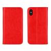 Samsung Galaxy J3 SM-J320, Oldalra nyíló tok, valódi bőrtok, stand, Book Special, piros