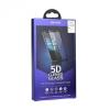 Samsung Galaxy Note 8 SM-N950, Kijelzővédő fólia, ütésálló fólia (az íves részre is!), Tempered Glass (edzett üveg), kis méretű, tokokkal kompatibilis, Roar, 5D, fehér