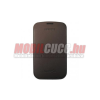 Samsung Galaxy S3 méretű bőr tok, Sötétbarna