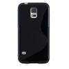 Samsung Galaxy S5 Mini SM-G800, TPU szilikon tok, S-Line, fekete
