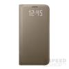 Samsung Galaxy S7 gyári LED View flip tok, arany, EF-NG930PF, (SM-G930)