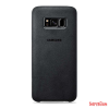 Samsung Galaxy S8+ Alcantara bőr hátlap, Ezüst