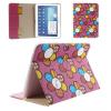 Samsung Galaxy Tab 3 10. 1 P5200 / P5210, bőrtok, mappa tok, virágmintás, rózsaszín