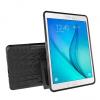 Samsung Galaxy Tab A 9.7 SM-T550 / T555, Műanyag hátlap védőtok, Defender, kitámasztóval és szilikon belsővel, autógumi minta, fekete