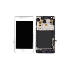 Samsung Gyári Samsung i9105 S2 Plus LCD modul fehér színben ORG mobiltelefon kellék