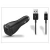 Samsung gyári USB szivargyújtós töltő adapter + micro USB adatkábel - 5V/2A - EP-LN915U+ECC1DU6BBE black - Adaptive Fast Charging (csomagolás nélküli)