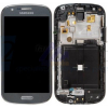 Samsung I8730 Galaxy Express szürke gyári LCD kijelző érintővel és kerettel