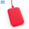 Samsung Nokia 2400mAh-es hordozható wireless töltőpad, piros
