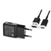 Samsung Samsung gyári USB hálózati töltő adapter + USB Type-C adatkábel - 5V/2A - EP-TA200EBE + EP-DG950 Type-C black (ECO csomaglás)