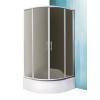 Sanipro N0658_8000197 Madison Neo 80x80 cm-es íves zuhanykabin, erősített akril mélytálcával